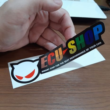 JDM Style Sticker ecu new warna  ecu new warna 15x4 2