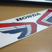 Biker Decal honda wings