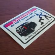 JDM Style Sticker dont mess AVANZA
