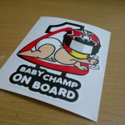 Biker Decal marquez baby champ