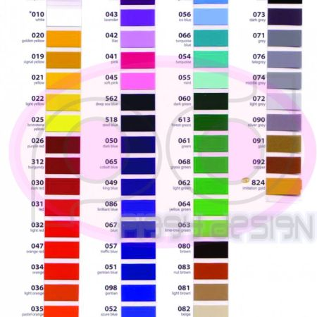 Color Chart ORACAL VINYL GLOSSY  DOFF oracal vinyl glossy atau doff