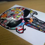 JDM Style Sticker punisher bomb