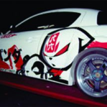 Car Graphic  rx putih