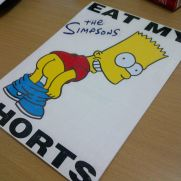 JDM Style Sticker simpson eat shorts