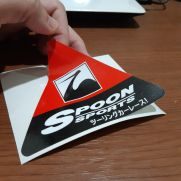 JDM Style Sticker spoonsports red