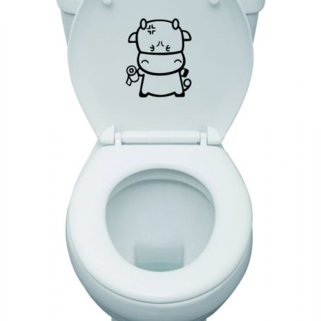 Decorative Sticker toilet cow  toilet cow 18x15cm 20rb